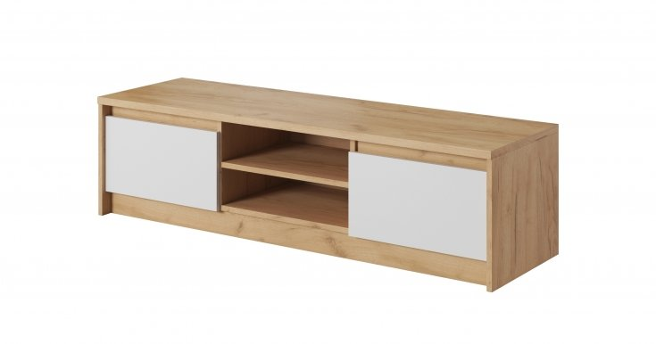 XELO L RTV2D TV cabinet Craft oak gold/white mat