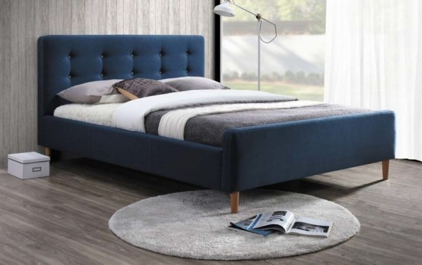 Pinko GR 160 dark blue Bed with wooden frame
