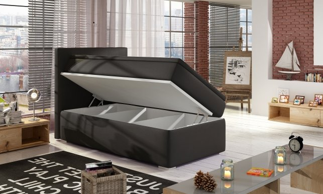 Roc-00 90x200 Boxspring Bed LEFT