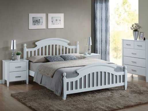 Lizbona 140 Bed with wooden frame