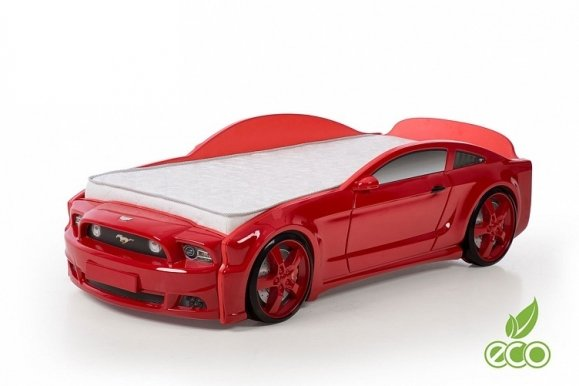 Light-MG 3D Basic MUSTANG Gulta auto bērniem ar matraci