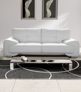 OM-GA III 3-seater sofa (white eco leather D 511)