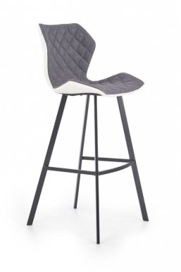 H-83 Bar stool White/black/grey