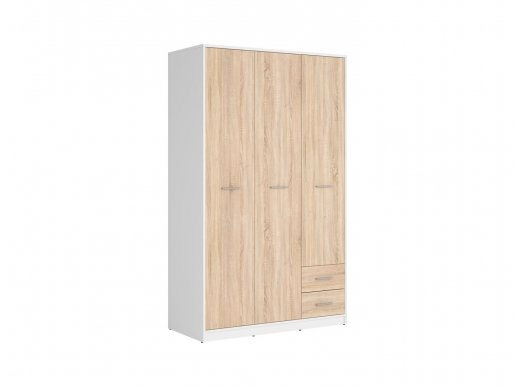 Nepo Plus SZF3D2S white/oak sonoma Wardrobe