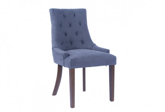 CORAL Chair dark walnut/dark grey