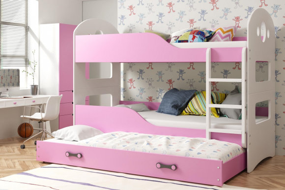 Dominik 3 Triple bunk bed with mattress 200x90