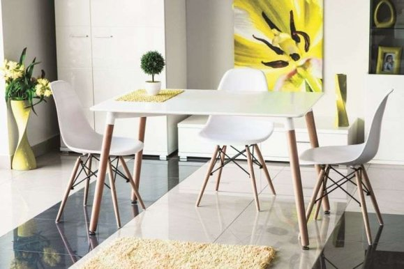 Link Nolan Table white/beech