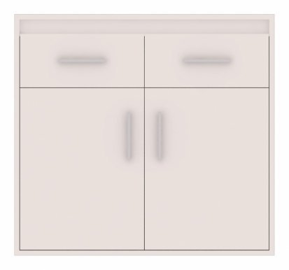 Texas 4 Chest of drawers White mat