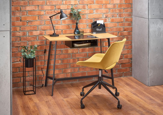 V-CH-B/41 Desk (golden oak/black)
