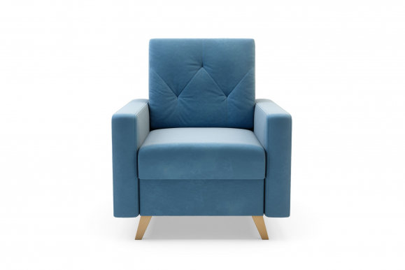 MARKOS Armchair (light blue fabric Kronos 31)